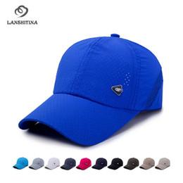 026ad2c846e Summer New Perforated Breathable Fast Dry Net Cap for Men Women Outdoor Sun Visor  Baseball Caps Travel Sunhat GH-770 affordable travel visor