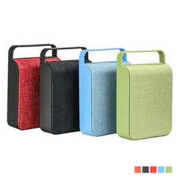 Portable usb mP3 music sPeaker online shopping - HS Wireless Mini Bluetooth Speaker Sound System D Stereo Music Surround Cloth wireless speakers TF card USB player with FM radio