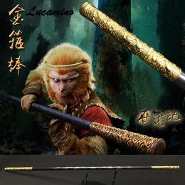 Hölzerner Affenkönig-Stab Kungfu Hölzerne Wushu-Stöcke Affe-Knüppel Drachengoldener Knüppel Sun WuKong haftet der Praxis im Angebot