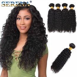 Brazilian Human Hair Wholesale Prices Australia - Human Hair Wefts Kinky Curly Brazilian Hair Bundles 4pcs lot Unprocessed Cheap Brazilian Kinky Curly Hair 30 Inch Bundles 1B Factory Price