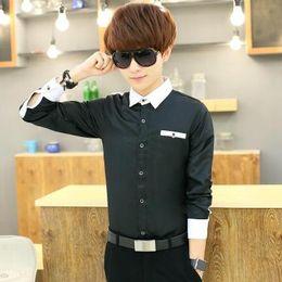 394eff03eca Shirt Men s Long Sleeve Slim Fit Business White Shirt Solid Color Professional  Dress Men s