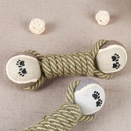 $enCountryForm.capitalKeyWord NZ - Pet Chew Toys for Dog Puppy Teeth Cleaning Training Products Pet Supplies Cotton rope tennis toy molar dog toy ball