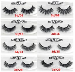 Wholesale New arrival Real Siberian D Mink Strip False Eyelash Long Individual Eyelashes Mink Lashes EMS