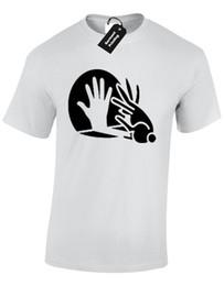 Детали ЗУ кролик тень рука мужская футболка смешно печатный дизайн мем комедии ТОП смешно бесплатная доставка мужская случайный подарок