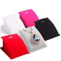 Velvet Pendant UK - new arrival White Red Black jewelry stand Velvet Mini Necklace Pendant Jewelry Display Rack with Hook hot sale