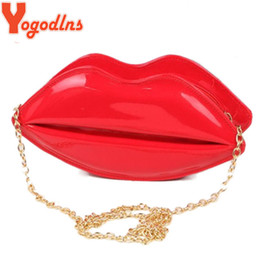 Discount sexy lips phone - Yogodlns fashion women leather handbag cartoon messenger bag shoulder sexy jelly gloss day shoulder clutch evening bag r