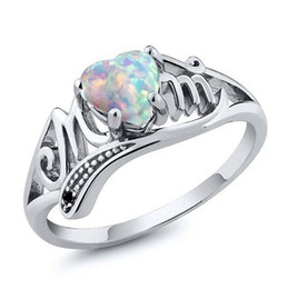 $enCountryForm.capitalKeyWord UK - New Heart-shaped Big Gemstone Opal Ring Love Mom Rings Fashion Mother's day and mother's birthday gift