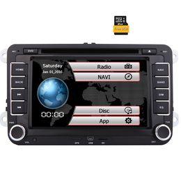 Stereo Din Volkswagen Australia - Eincar Double Din 7'' Touch Screen Car Stereo for VW Golf Skoda Passat Head Unit In Dash Bluetooth Navigation Car DVD Multimedia Player
