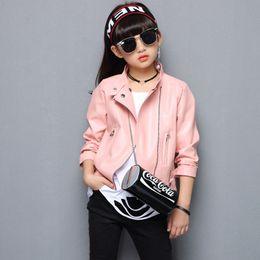 $enCountryForm.capitalKeyWord NZ - baby girl motorcycle PU leather jacket winter teenage kids girl sports coat children clothes little girls warmouterwear clothing