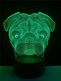 lighted dog ball 2018 - 7 Color Changing Dog Creative 3D LED Mood Night Light Desk Table Party Christmas New Year Bedroom Decor Lamp Child Kids