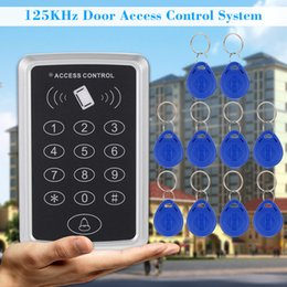 Discount proximity card system - Home Security 125KHz Single RFID Card Proximity Entry Door Lock Access Control System With 10pcs RFID Keys Key Fob