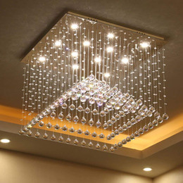 $enCountryForm.capitalKeyWord Australia - New LED 3 Brightness Crystal Ceiling Lights Chandeliers Pendant Lights Stairs Lobby Country House Showroom Living Light With Remote control