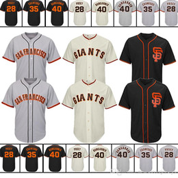 d193cc1ca40 2018 San Francisco Giants new Jersey men M-XXXL 22 Will Clark 28 Buster  Posey 35 Brandon Crawford 40 Madison Bumgarner
