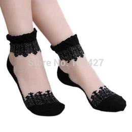 $enCountryForm.capitalKeyWord Australia - Fashion- Spring Summer 1pair New Fashion Lace Socks For Women Girls Ultrathin Transparent Beautiful Laciness Socks Princess Short Socks