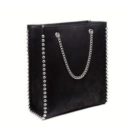SUNNY BEACH Women Bag Chain Tote Rivet Shopping Metalli Luxury Female  Handbag Designer Style Girl Bolsas Lady pu Leather Bag Y1892506 29dcde3fdfd01