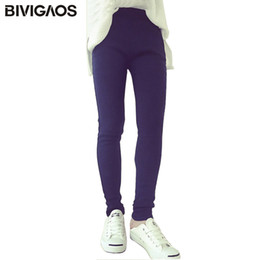 Xl Womens Leggings Australia - BIVIGAOS Fall Winter Womens Clothing Thick Fleece Jeans Elastic Denim Leggings Warm Jeggings Slanting Pocket Pencil Pants Women