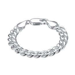 $enCountryForm.capitalKeyWord NZ - High quality !10M side chain - shrimp buckle - m 925 silver bracelet JSPB151,Beast gift men and women sterling silver plated Charm bracelets