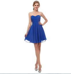 $enCountryForm.capitalKeyWord UK - 2018 sexy formal evening dress chiffon In Stock Short Homecoming Dresses royal blue under 50 Real Photos Sweetheart mini Party Gowns 12673