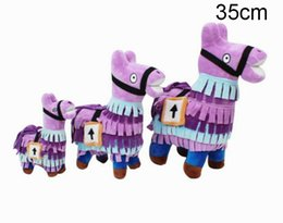 China 25cm 35cm Fortnite Troll Stash Llama Figure Doll Soft Stuffed Animal plush toys Fortnite Stash Llama Plush Toy cartoon Stuffed doll in stock cheap purple stuffed animals suppliers