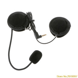 microphone plugs 2019 - Motorcycle Helmet Headset Microphone Speaker Soft Accessory For Motorcycle Intercom Work with 3.5mm-plug Drop Shipping S