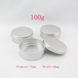 $enCountryForm.capitalKeyWord NZ - 100g X 20 empty aluminum cream container ,candle metal canning jar ,100ml cosmetic skin care cream bottle , tin storage pot