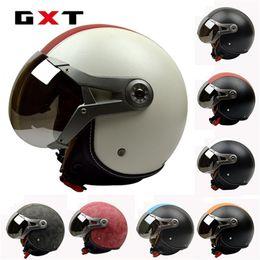 Helmet Motorcycles Open Face NZ - GXT Vintage Harley Air Force Helmet Motorcycle Open Face (3 4) Scooter Helmet ABS Helmet fashion