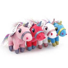 stuffed animal stuffing NZ - New Unicorn plush toy 15cm stuffed animal Toy Children Plush Doll Baby Kids Plush Toy Good For Children gifts
