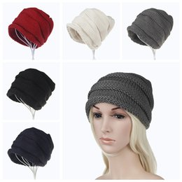 33e58850583 5styles women earmuffs knitted curling hat crimping caps crochets knitting  beanie hats outdoor sports party skull caps FFA755 20PCS