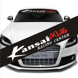 $enCountryForm.capitalKeyWord Canada - Racing Center Kansai Car Front Windshield Reflective Banner Vinyl Decal Sticker Custom Auto Car outer Body Decoration
