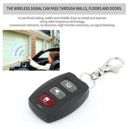Wireless Door Key Australia - 10PCS Wireless 3 Buttons Remote Control Car Key Duplicator Adjustable Frequency Electric Gate Garage Door Keychain