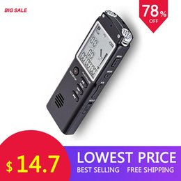 Hour recorder online shopping - 8GB GB GB Voice Recorder USB Professional Hours Dictaphone Digital Audio Voice Recorder With VAR VOR Built in Microphone