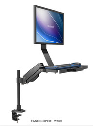keyboard monitors UK - W809 Desktop Mount Full Motion Gas Spring Arm Computer Monitor Keyboard Mount Holder Stand Sit-Stand Workstation