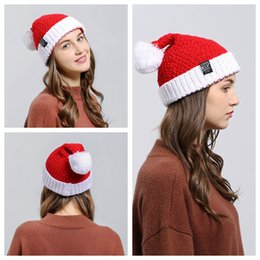 137ce613a67 Christmas Party Crochet Hat Beanie Knitted Warm Wool Cap Santa Claus Xmas  Winter Hats Soft Christmas Men Women Kids NNA541 120pcs