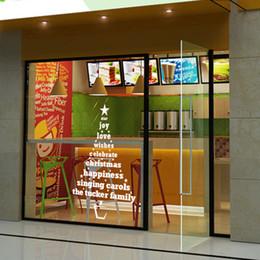 Home Sticker Wall Kitchen Room Australia - Creative Christmas Tree Wall Sticker Windows Papel Mural Adhesive Kids Room Living Room Bedroom kitchen Toilet Decor Home Shop Vinyl Decals
