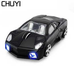 900110e24ff Sport Car Shaped Mouse 2.4GHz Wireless Mouse Optical Cordless Mice with LED  Flashing Light Gaming Mause for PC Laptop Computer