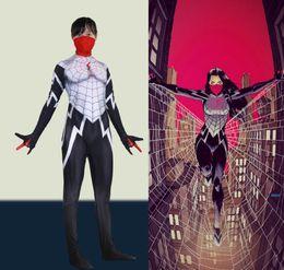 Spiderman Party Suit Australia - Cosplay Masked female spider-man Spiderman Unisex Women Female Costume Halloween Party Superhero Plugsuit Jumpsuits Suit Catsuit Zentai