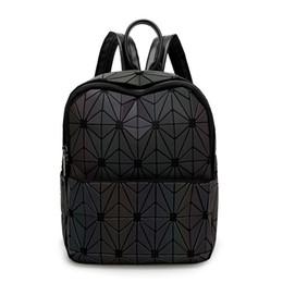 $enCountryForm.capitalKeyWord UK - Fashion Bag New BaoBao Luminous BackpacFemale Fashion Girl Daily Backpack Geometry Package Sequins Folding Bao Bao School Bag