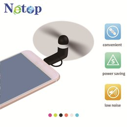 $enCountryForm.capitalKeyWord NZ - Netop Mini Cool Micro USB Fan Mobile Phone USB Gadget Fans Tester For 2 in 1 iphone and Android