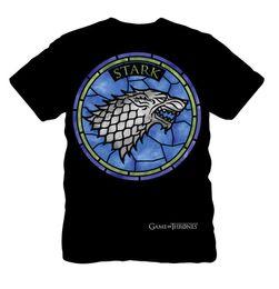$enCountryForm.capitalKeyWord Australia - Game of Thrones House Stark Direwolf Stained Glass Sigil Adult T-Shirt