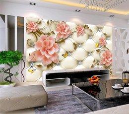 $enCountryForm.capitalKeyWord NZ - European Style Soft Bag Diamon Flower Butterfly Murals Photo Wallpaper Living Room Bedroom wallpaper for walls 3 d Landscape