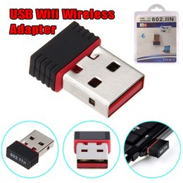 usb chips Canada - High Quality Red Edge Chip Mini USB Adapter 150Mbps 150M Wifi Wireless Adapter LAN Card 802.11n g b 2.4GHz