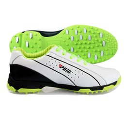 92ad80987d86 Brand PGM Genuine Leather Mens Tour 360 Boa Boost Waterproof Spiked Golf  Sports Shoes Sneakers Pro Tour Steady Waterproof