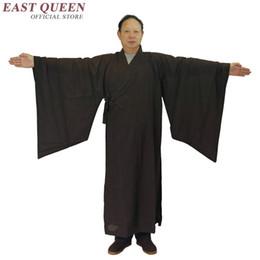 Chinese Robe Men NZ - Buddhist monk robes Chinese shaolin monk robes men buddhist clothing traditional chinese robe AA970