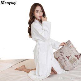 8787362972 Wholesale- 100% cotton women s and man s towel bathrobe home wear terry  bathrobes solid color home long robe for women