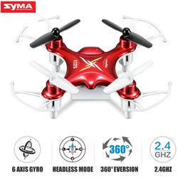 Venta al por mayor de SYMA Official X12S Mini Drone 4CH 6-Axis Gyro RC Helicopter Dron Quadrocopter de bolsillo Quadcopter RC Toys para niños