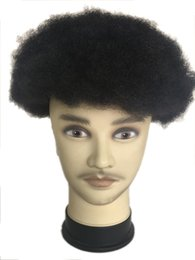 $enCountryForm.capitalKeyWord UK - Afro toupers system base 8X10 inch afro curl full lace wig 6mm curl 120% density 1B# black colour color for black men