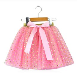 tutu cute dance Australia - tutu dress 2018 Hot selling Europe and America style new arrivals girls cute gold stamping heart and star gauze skirt girls dance skirt