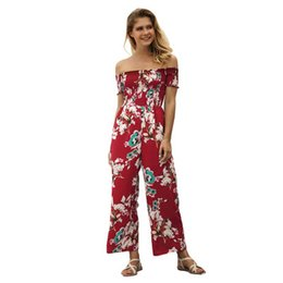 $enCountryForm.capitalKeyWord Canada - Hot Sale New Summer Women Bohemia Jumpsuit Floral Print Sexy Slash Neck Off Shoulder Short Sleeve Rompers Female Playsuits C3013