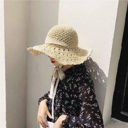 ce332fd6333bd Straw Hat Sun Hat Beach Women 2018 New Arrivals Wide Brim Summer Hats UV  Protect Travel Cap Bohemia Sun Straw Lady Lace Tie