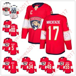 Hot Sale Florida Panthers 2018 New Brand 1 Roberto Luongo 5 Aaron Ekblad 34  James Reimer 17 Derek MacKenzie Red White Hockey Jerseys 80f36233d